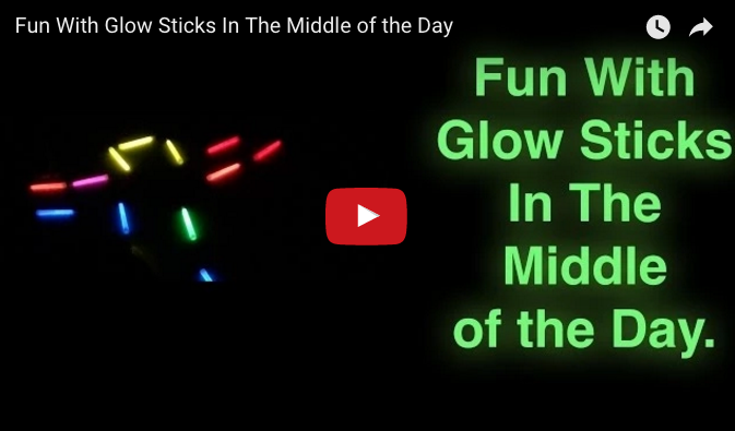 Family Fun With Glow Sticks (Hint: You Don't Need To Wait For Night)